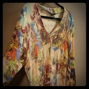 Tops - Artistic Sequined Long Sleeve Top